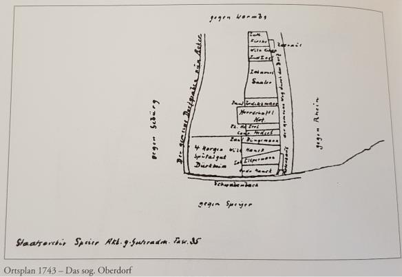 Kirsch 1743 Fussgoenheim over village