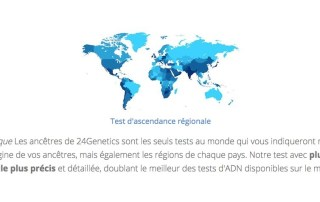 24Genetics vous promet une description de plus de 400 origines ethniques différentes, la plus large offre disponible aujourd'hui sur le marché.