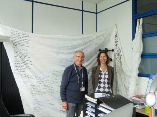 Pierre Tambourin et Véronique Le Boulc'h, responsable de la communication