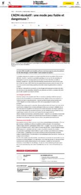 La Nouvelle République, Mars 2020. Article sur la fiabilité des tests ADN. FACT CHECKING de DNA PASS.