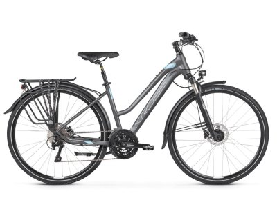 Bicicleta Kross Trans 10.0 Grafite-Azul