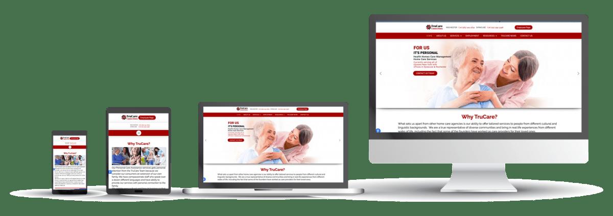 Trucare Connections website design