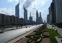 Sh. Zayed Rd merupakan jalan besar utama di Dubai. Sepanjang jalan dipenuhi dengan gedung-gedung pencakar langit termasuk Emirates Towers
