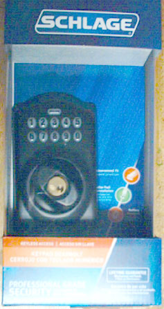 Here is our Schlage Keyless Entry Lock