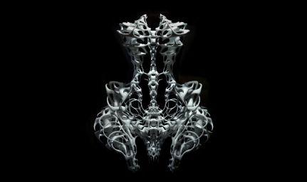 Digital Rendering- BART OOMES, No 6 Studios © Iris van Herpen Skeleton Dress, 2011