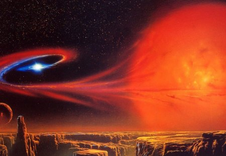 red giant star Stars Space Background Wallpapers on