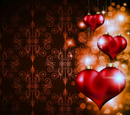 Christmas Hearts Other Amp Abstract Background Wallpapers