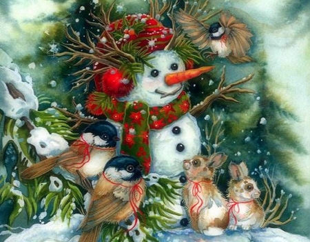Christmas Frosty Happily Winter Amp Nature Background