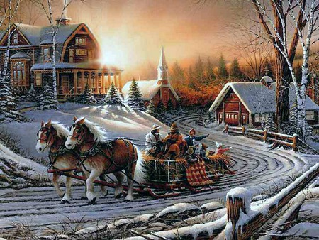 Sleigh Ride Winter Amp Nature Background Wallpapers On