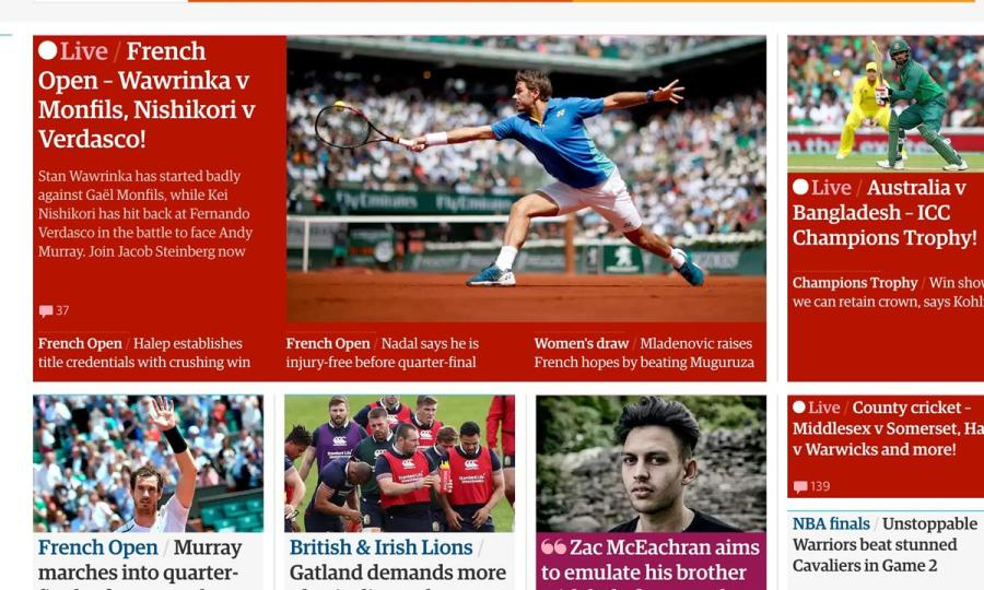 Development of the live blog at the Guardian