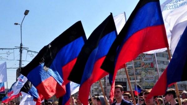 День провозглашения ДНР: митинг в Донецке. Фото