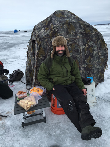 DNR ice fisheries experts advise ice anglers to check ice conditions carefully and dress warmly. It's not a bad idea to bring some extra snacks, too - especially if you are hosting friends and family.