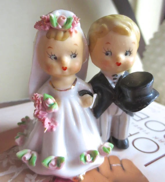 11 Vintage Wedding Cake Toppers Woman Getting Married