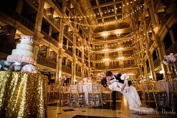 Wedding Venue Review The George Peabody Library