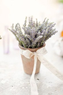 14 Ways to Use Lavender at Your Wedding Place lavender plants on your reception table for a sweet and inexpensive  arrangement  wedding flowers