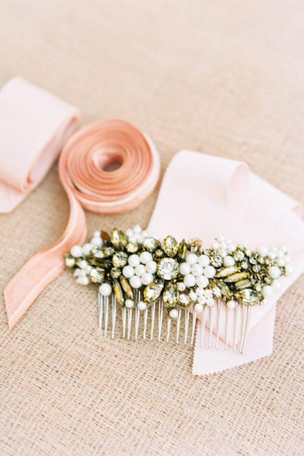 Bride La Boheme Megara Bronze Crystal Bridal Comb