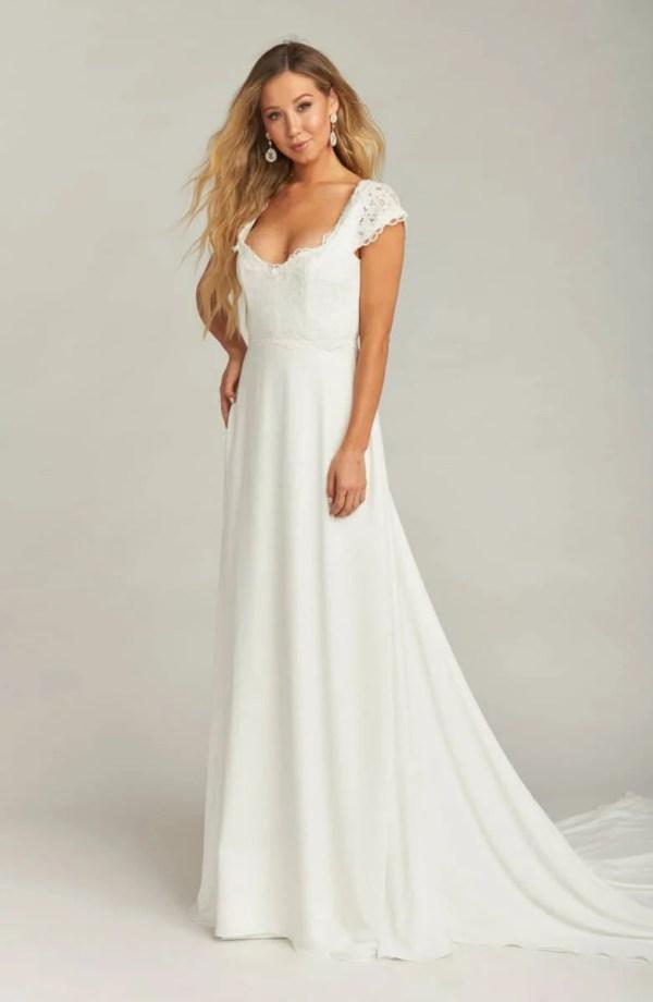 Show Me Your Mumu Chantel Lace Bodice Cap Sleeve Wedding Dress ($1,495)