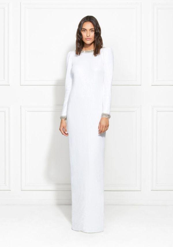Rachel Zoe Grace Embellished Fluid Sequin Gown ($695)