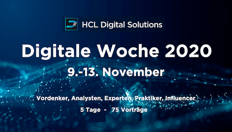 "Tom Zeizels Blog – HCL Digital Solutions kündigt ""Digitale Woche 2020"" im November an"