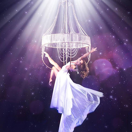 hire aerial chandelier dancer