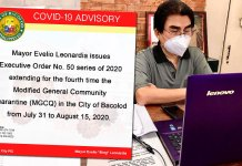 BACOLOD CITY, Negros Occidental, Philippines - Bacolod Mayor Evelio Leonardia has issued an executive order imposing requirements for Authorized Persons Outside Residence (APOR) entering the city.