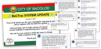 The volume of requests for registration in Bacolod City's contact tracing app has caused the system to slow down, thus requiring an update.
