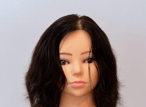 縮毛矯正の分け目