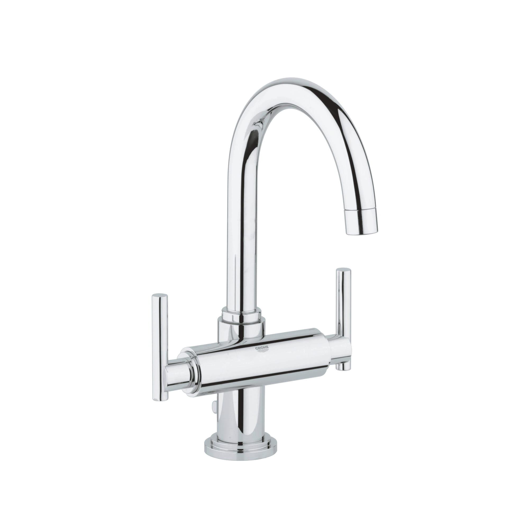 single hole 2 handle l size bathroom faucet 4 5 l min 1 2 gpm