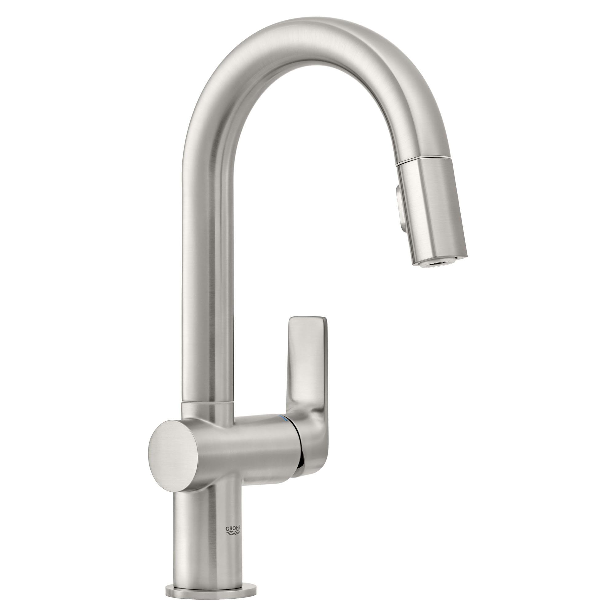 single handle pull down dual spray bar faucet 6 6 l min 1 75 gpm