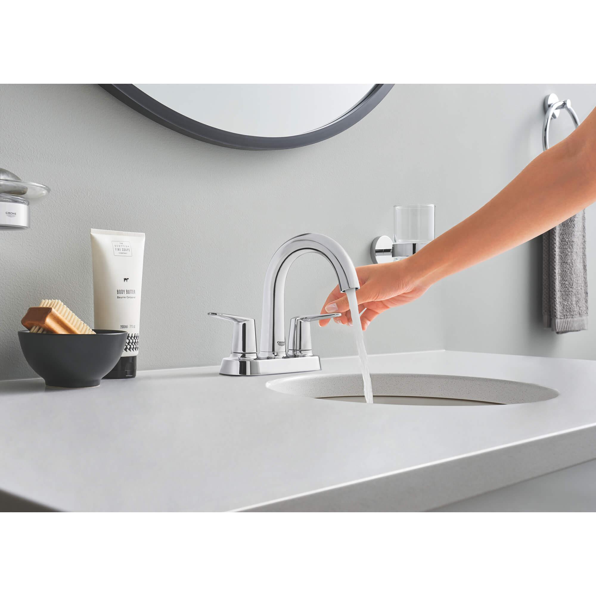 veletto 2 handle 4 centerset bathroom faucet