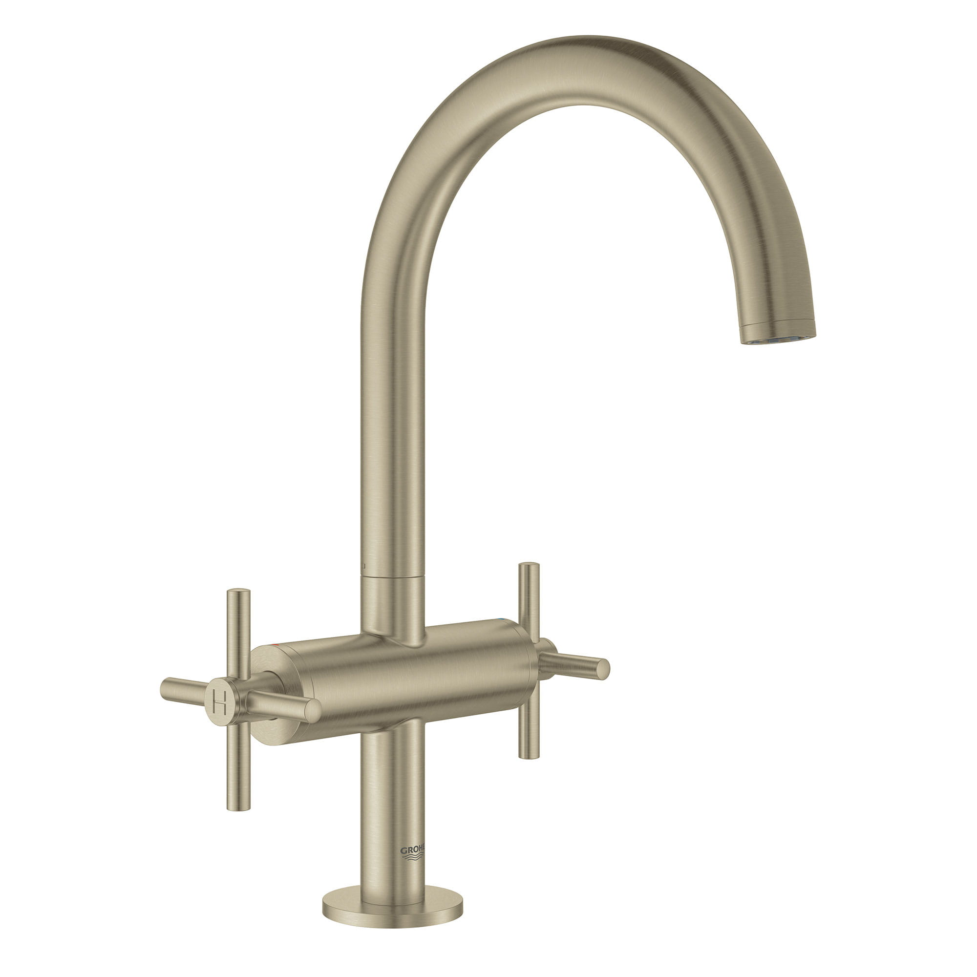 single hole two handle l size bathroom faucet 1 2 gpm