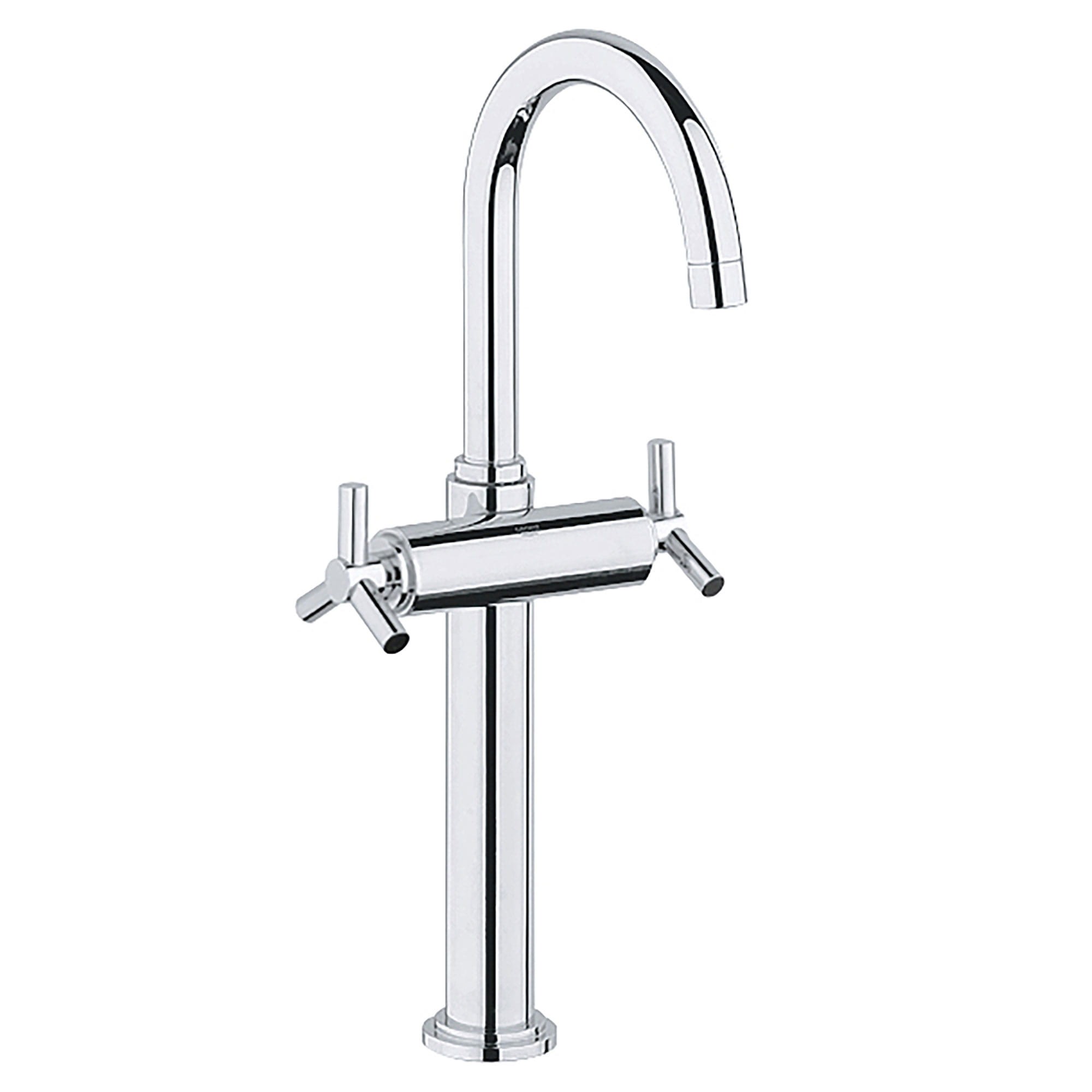 single hole 2 handle deck mount vessel sink faucet 1 2 gpm