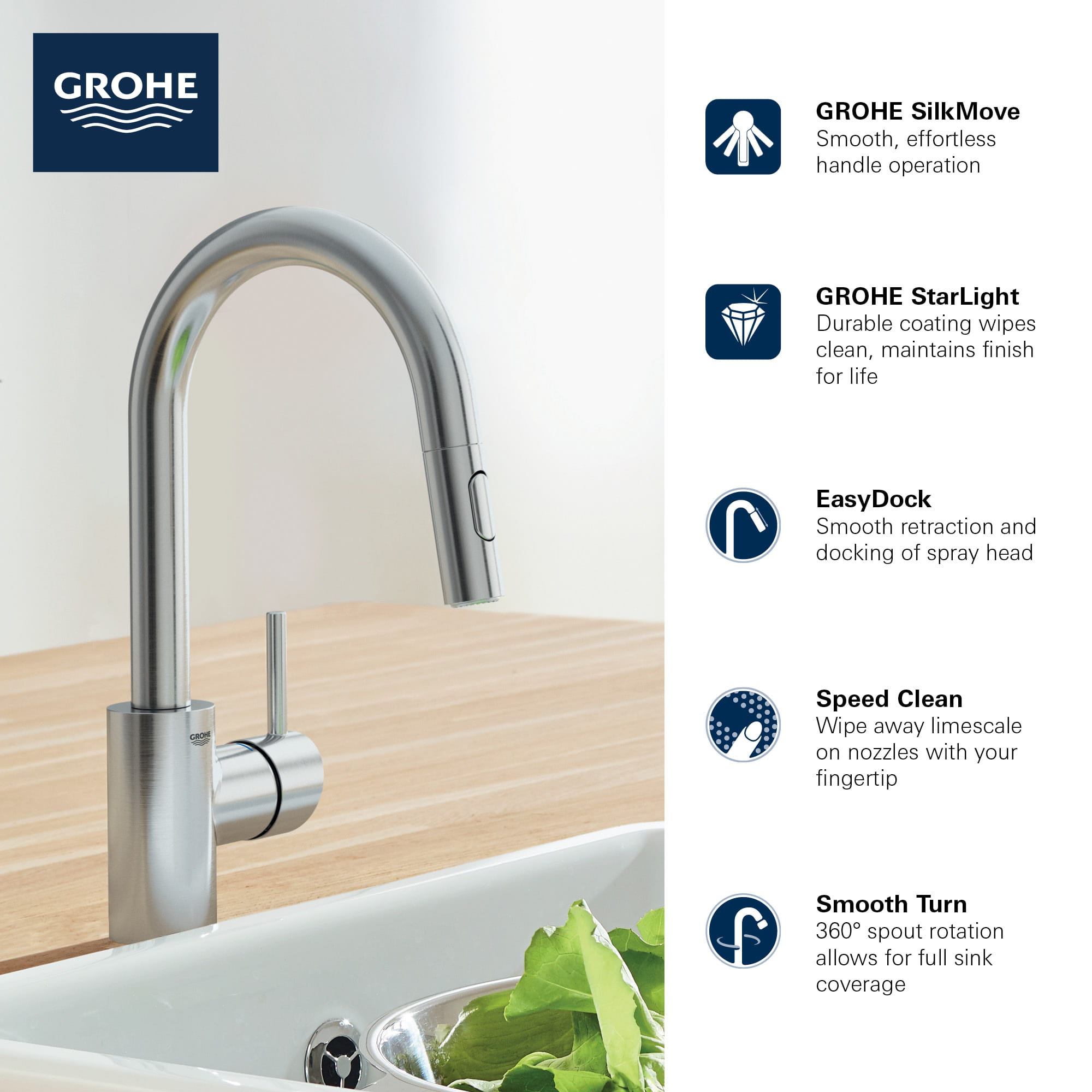 concetto single handle pull down kitchen faucet dual spray 1 75 gpm