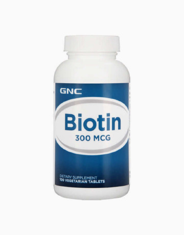 Biotin 300 mcg (100 Tablets) by GNC Products | BeautyMNL