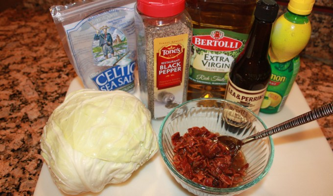 Ingredients for Roasted Cabbage
