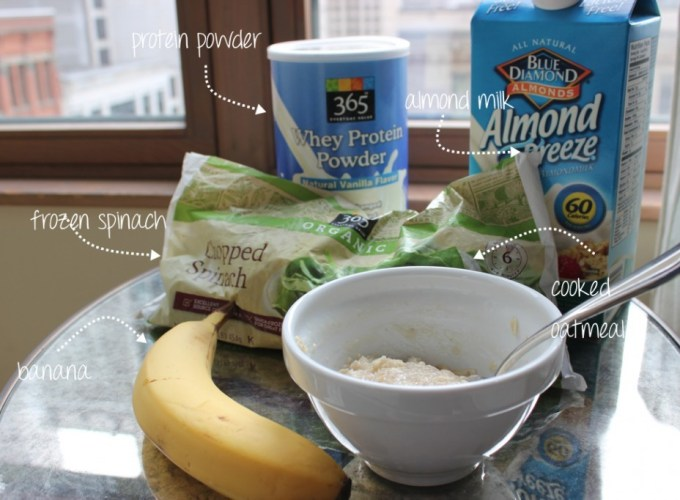 Oatmeal Smoothie Ingredients
