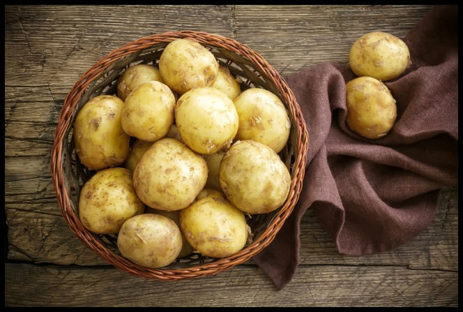 Potatoes in a Basket