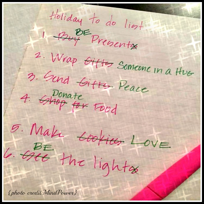 Xmas to do list