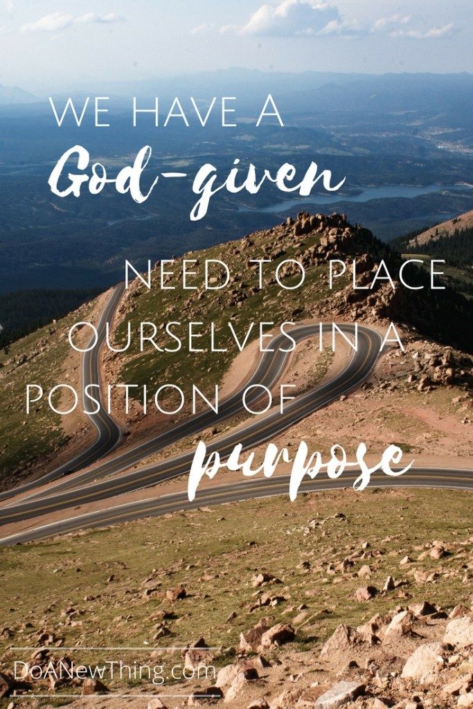 Whether we are trying to define our passion, articulate our calling, or zone in on our ministry or business niche, having a clear picture of our purpose is one of the keys to being effective.