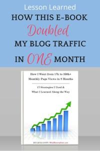 blog traffic pin