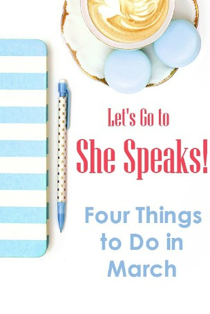 Feeling called to write, speak or lead? Let's go to the She Speaks Conference together! FREE Printable checklist to track all the things to do.