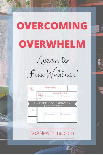 Whether we are overwhelmed by too much information or by too many things to do, the results are the same ... a weary heart, a tired body and a defeated soul. Create a roadmap to overcoming overwhelm
