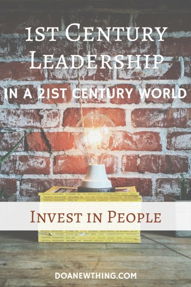 Strong leaders call out the best version of people, helping them shine their own God-given light. Servant leaders do that by investing in people. A deep love for people spurs the servant leader to know, celebrate and challenge the people around her to do amazing things.