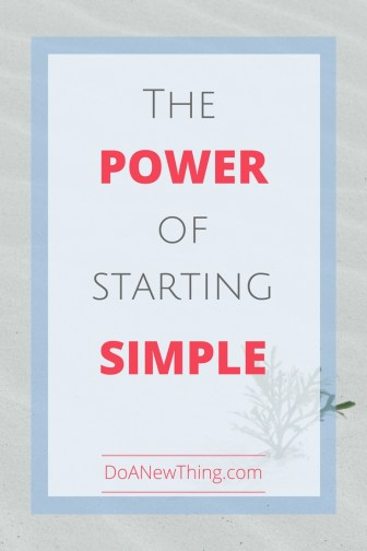 "What if we simply started .... and started simple? There's a freedom in starting when you don't know the ""right"" way to do things."