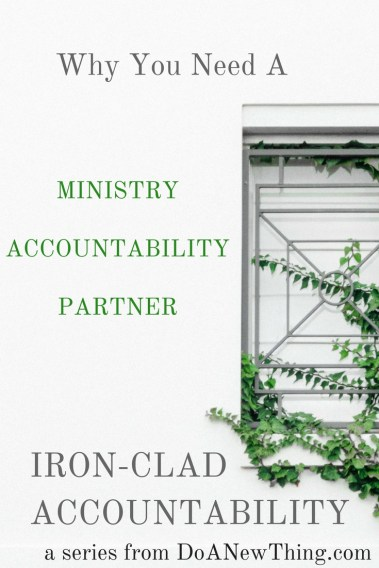 While we can create goals and plans by ourselves, accountability requires help from someone else.
