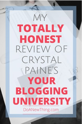 Looking for an affordable #blogging course from an expert blogger that doesn't make your feel icky? See what I thought of Crystal Paine's Your Blogging University