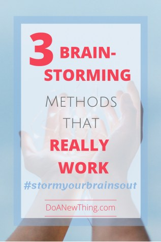 Structured brainstorming methods often yield a more realistic view of the situation, and one that lends itself to plans and solutions.