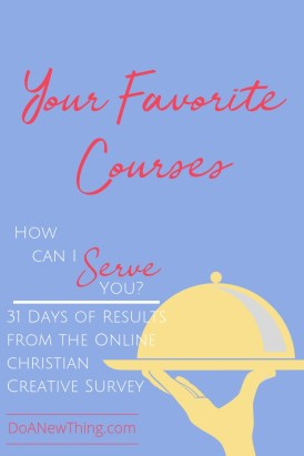 We asked 220 Christian Creatives about their favorite online courses and this is what they said!