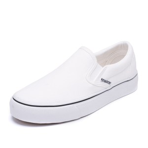 White Flat Men breathable slip on shoes