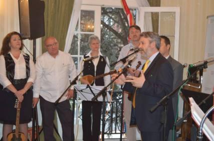 Ambassador Josip Paro, welcomes participants at a reception at the Croatian Embassy in Washington, DC